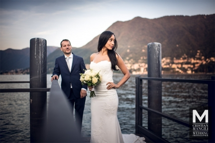 058 wedding photographer lake como italy bride staring on the pier 1