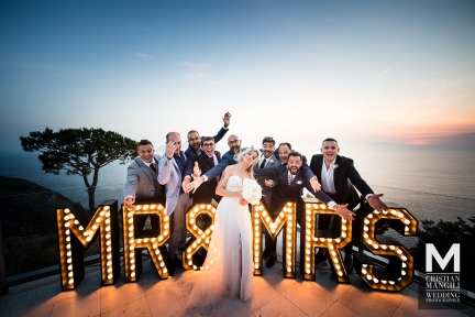 088 wedding portrait at sunset amalfi coast naples capri italy luxury resort location relais blu