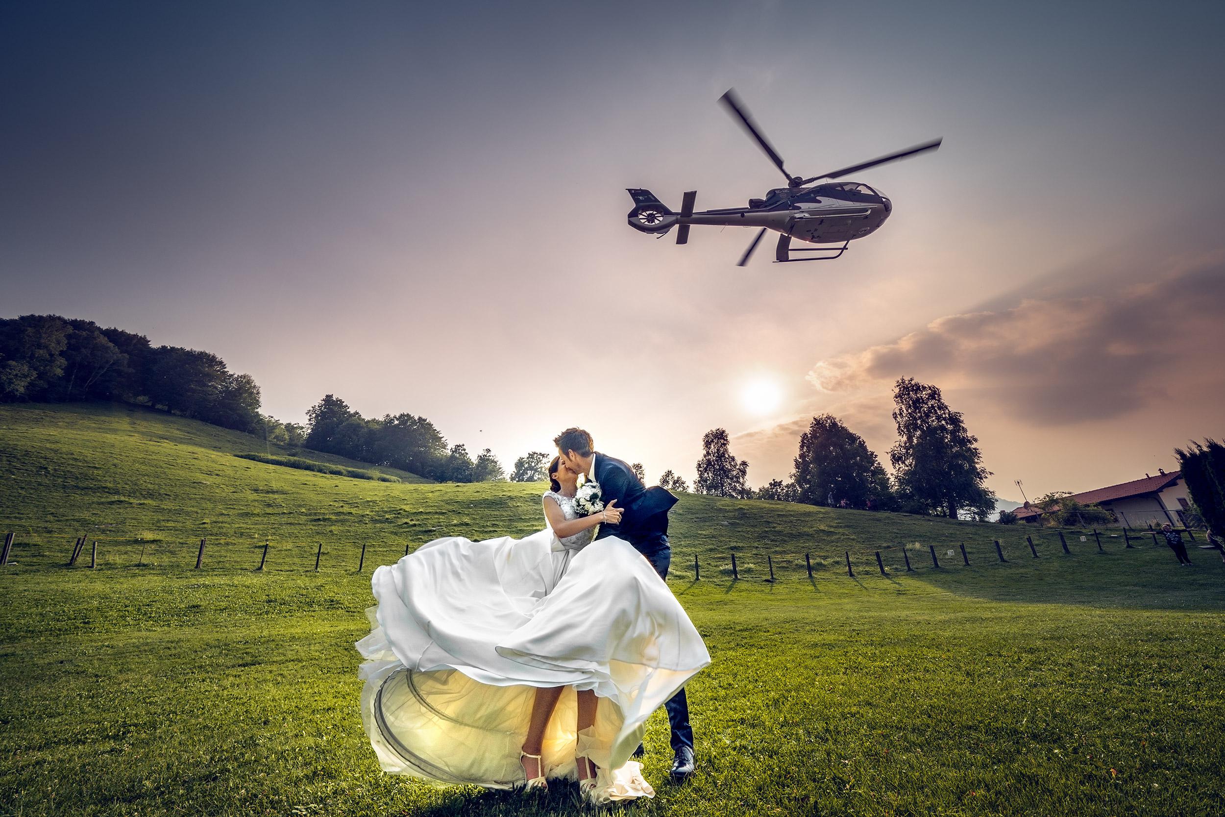 000 reportage sposi foto matrimonio elicottero wedding madonnina barni como 1