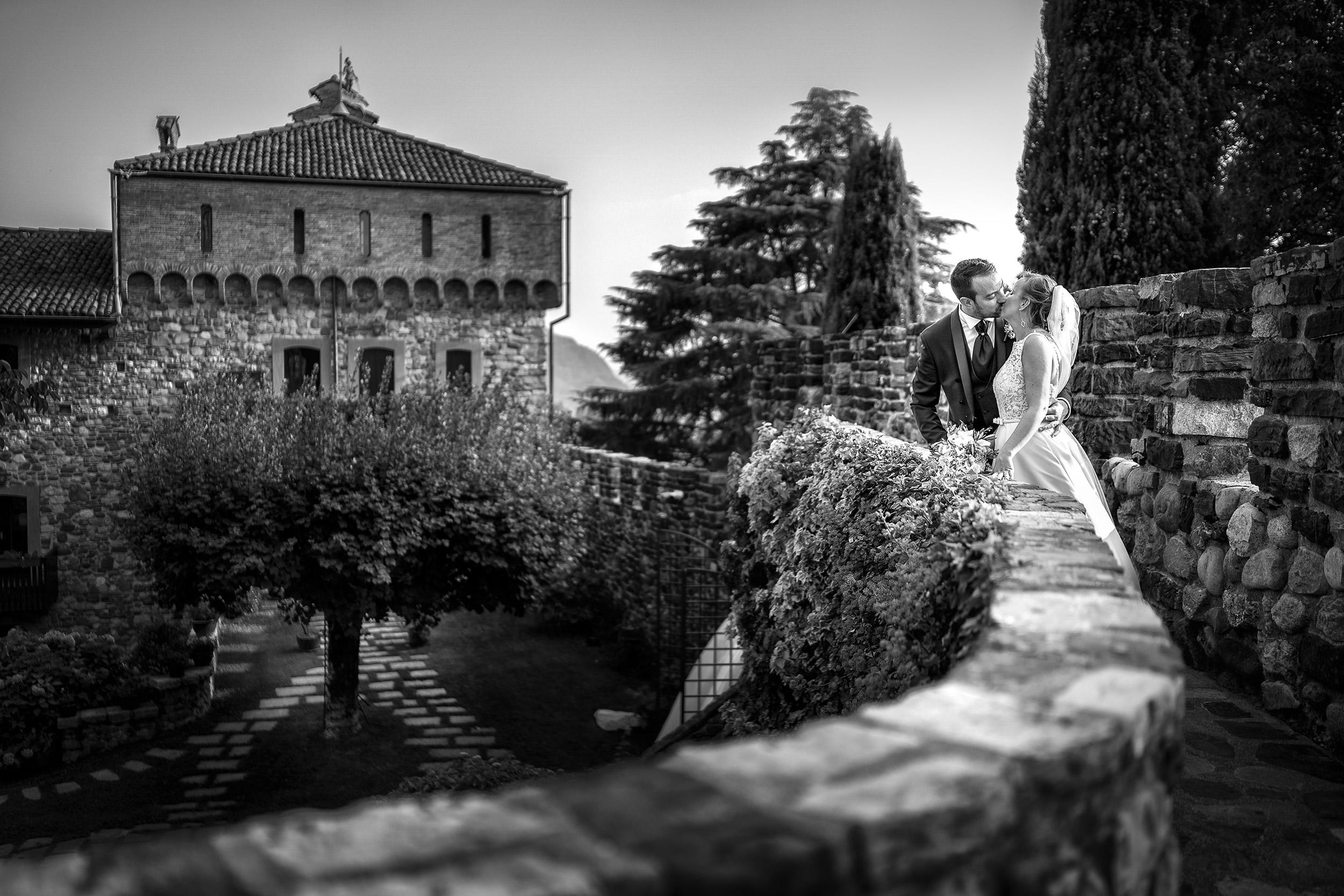 001 foto matrimonio reportage bianco nero lecco castello rossino 1