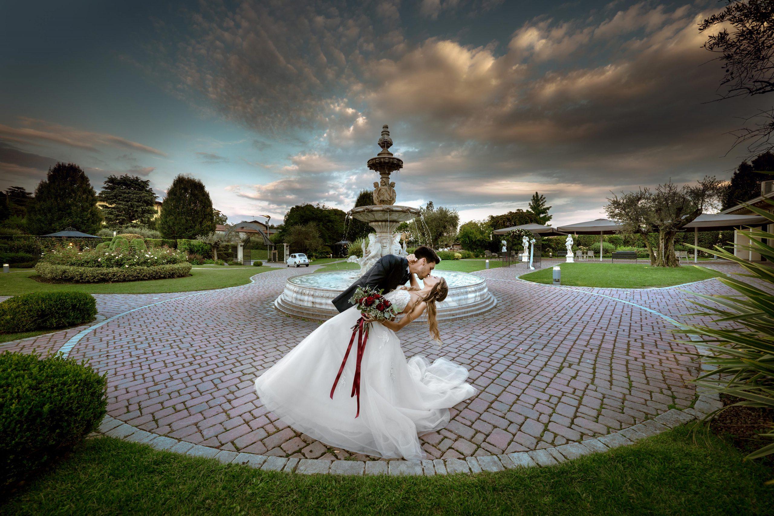 038 foto matrimonio ritratto sposi brescia erbusco ristorante pio nono