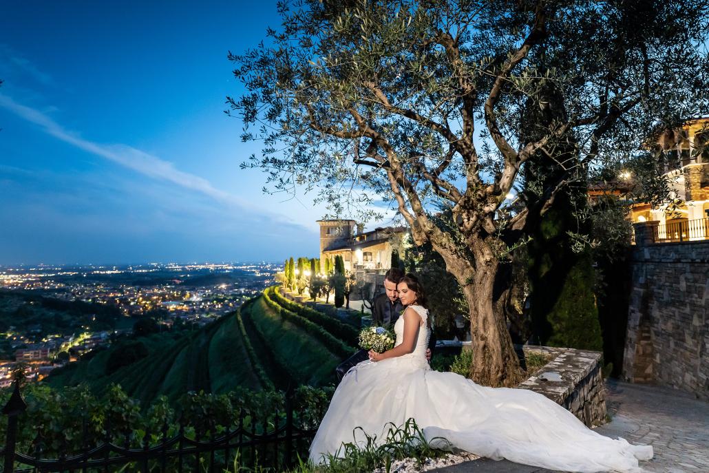 000 fotografo matrimonio reportage wedding ritratto sposi imbrunire panorama le cantorie gussago brescia