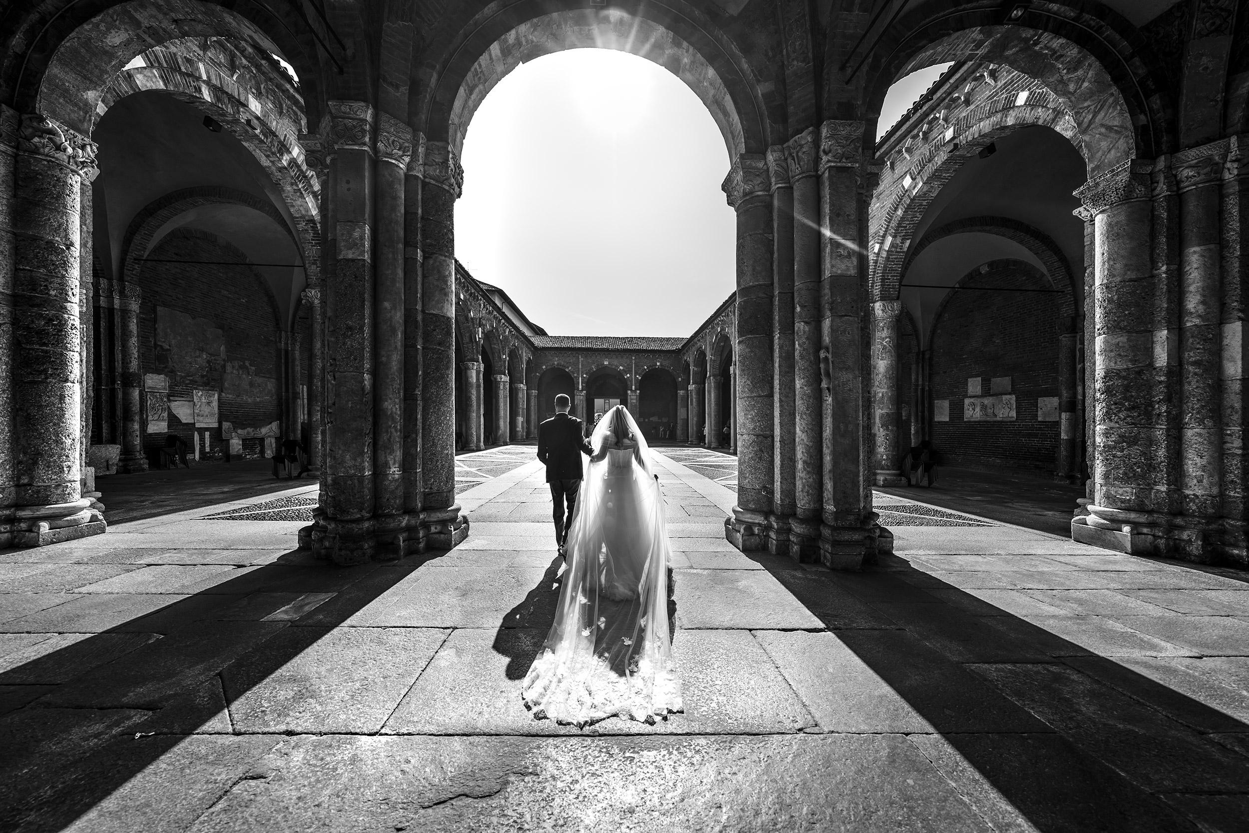 000 reportage foto matrimonio wedding ritratto sposi basilica sant ambrogio milano 1